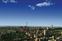 Panoramic South Africa Johannesburg-City-Skyline